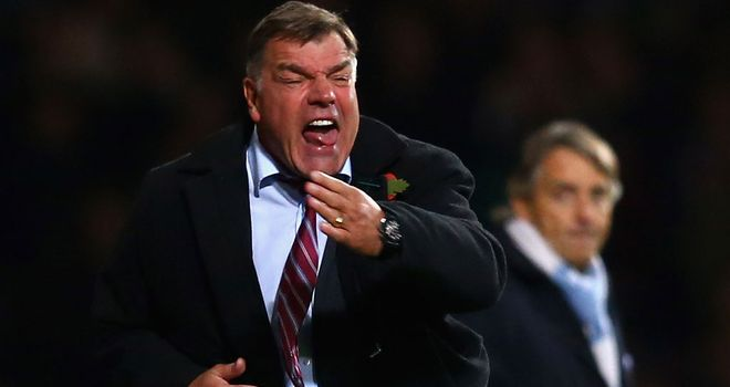 Sam Allardyce: Saw his side earn a valuable point against the champions