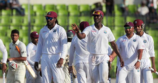 Darren Sammy: Skipper leads West Indies off the field
