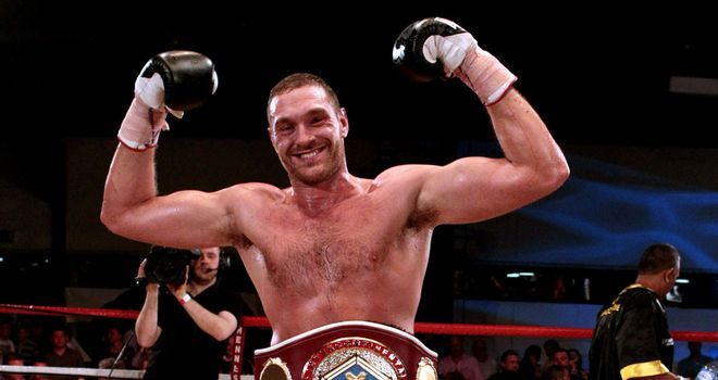 Tyson Fury: Climbed off the canvas to beat Steve Cunningham in seven rounds