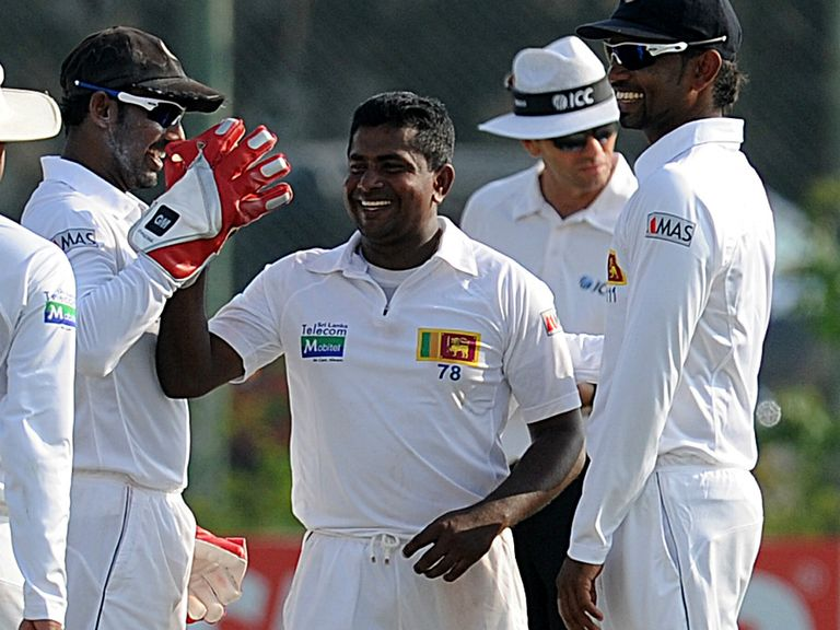 Rangana Herath: Took 11 wickets in first Test