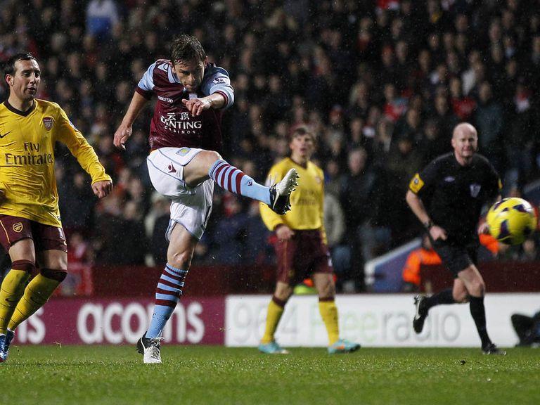 Brett Holman: Went close against Arsenal