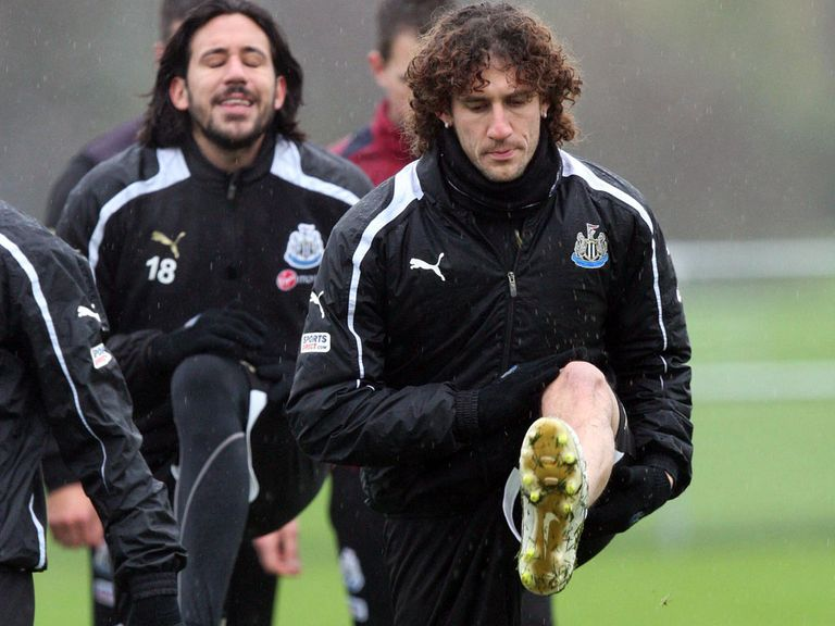 Fabricio Coloccini: Training with Newcastle
