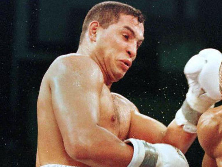 Hector Camacho during his 1997 fight with Sugar Ray Leonard.