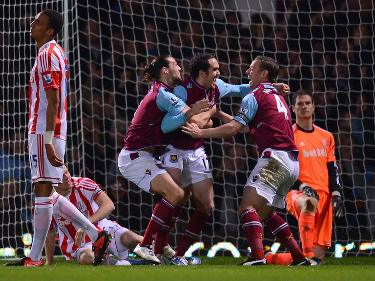 Kevin Nolan (left) and Andy Carroll (right): Played together at Newcastle and West Ham