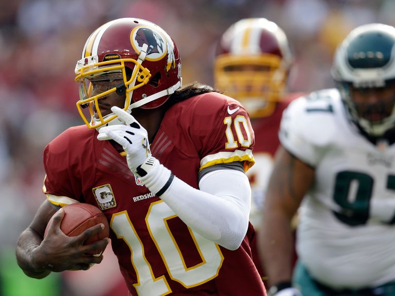RG III: Can score a TD for the Redskins
