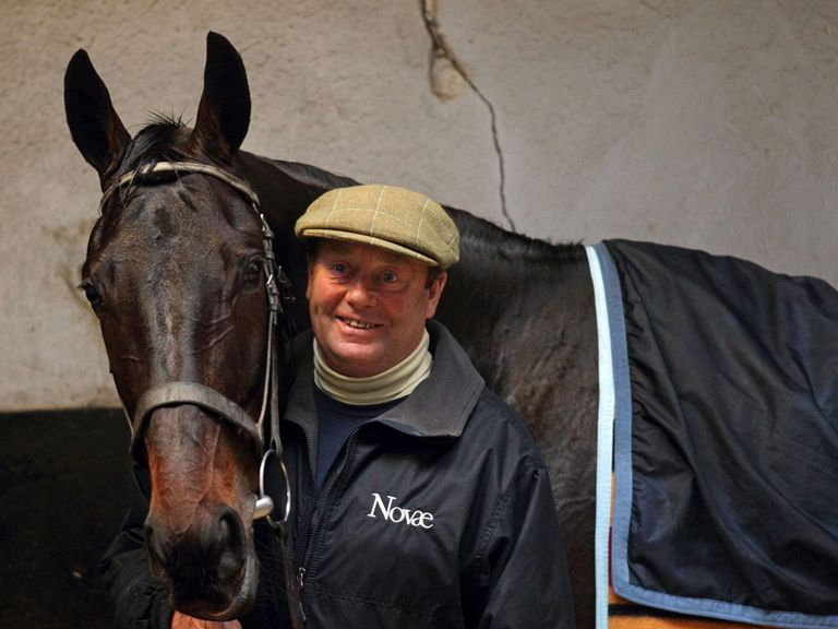 Sprinter Sacre with Nicky Henderson on Wednesday morning