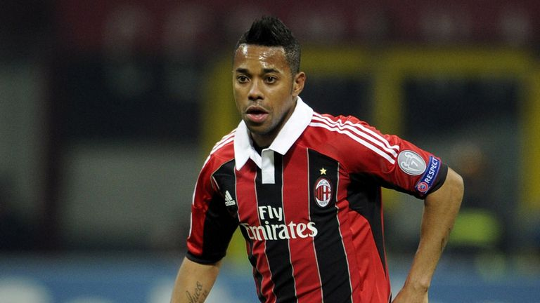 Robinho: Set to stay at AC Milan despite rumours he could return to Santos