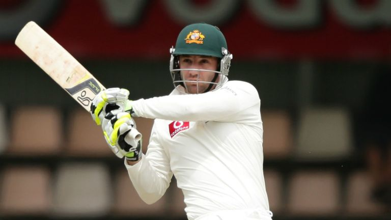 Hughes: the left-hander has three Test tons to his name