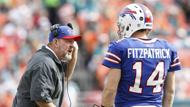 Chan Gailey and Ryan Fitzpatrick: End of the road in Buffalo for head coach