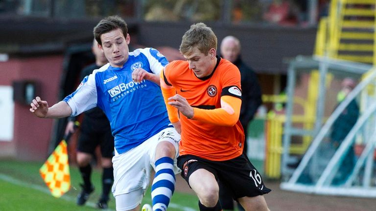 Peter Pawlett: The midfielder, left, has extended his stay at St Johnstone by another two games