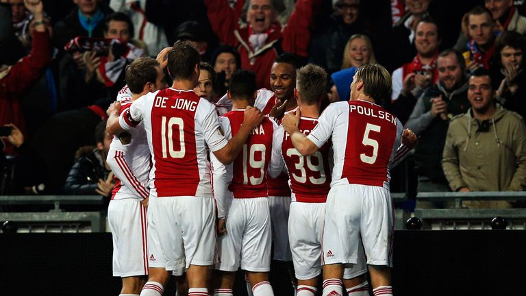Ajax: Celebrating on the way to beating PSV