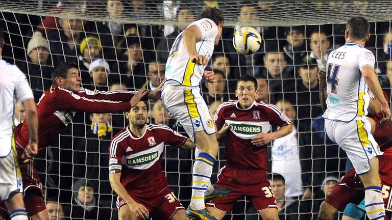 Luciano Becchio: Has scored five times in four games against Middlesbrough