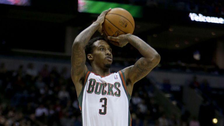 Brandon Jennings: scored 25 points as the Bucks beat the Heat 104-85 on Saturday