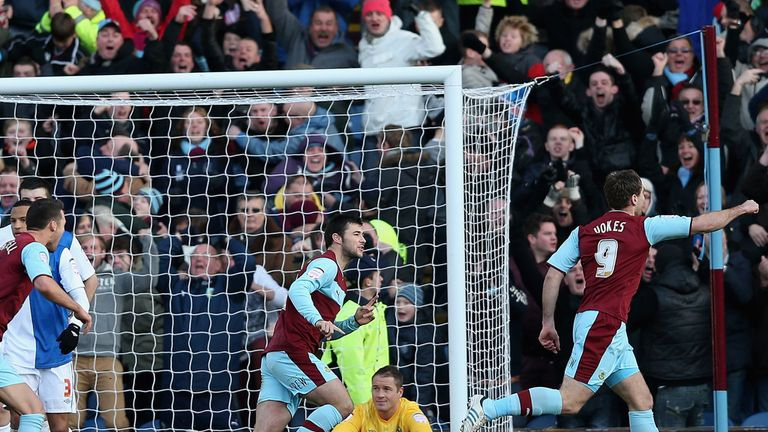 Sam Vokes: Celebrates late equaliser for Burnley
