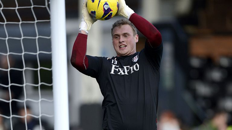 David Stockdale: In action for Fulham
