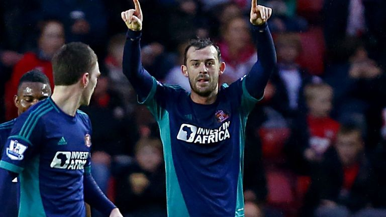 Steven Fletcher celebrating his eighth league goal of the campaign