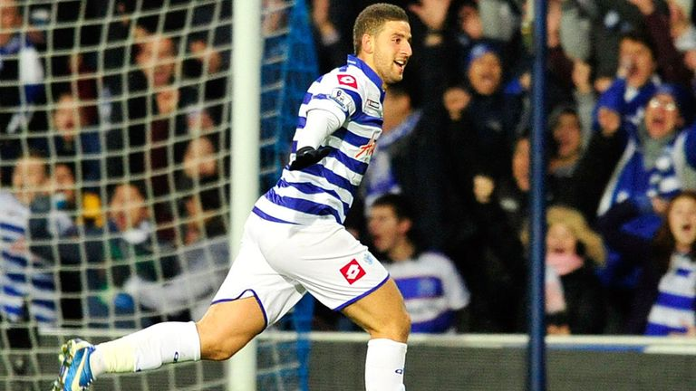 Adel Taarabt: Queens Park Rangers playmaker celebrates after scoring against Fulham