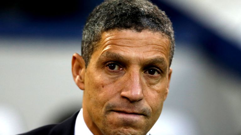 Chris Hughton: Striker search intensifies after 5-0 defeat to Liverpool.