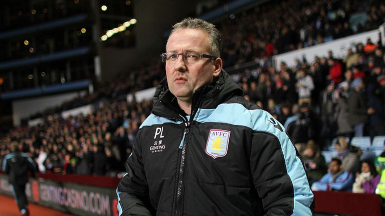 Paul Lambert: Has taken full responsibility for Aston Villa's troubles
