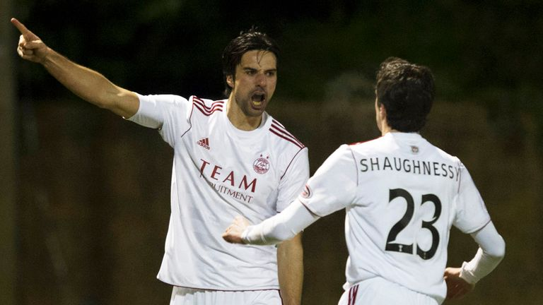 Rory Fallon: Celebrates his goal on Tuesday