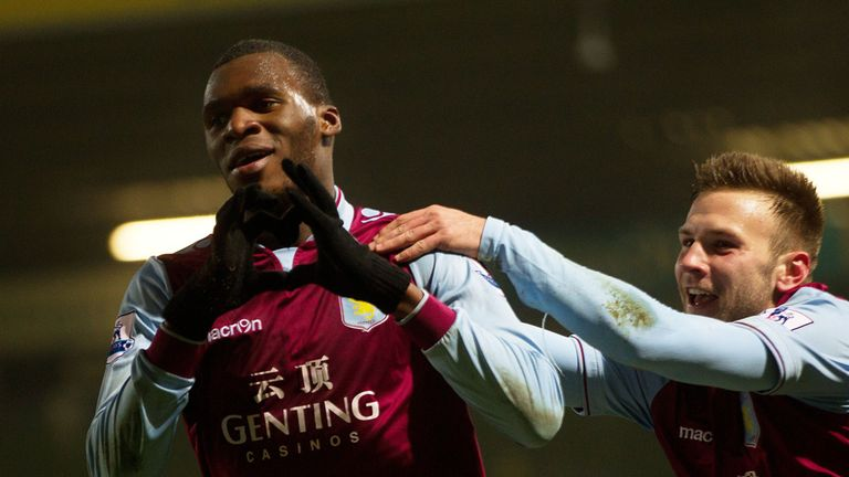 Christian Benteke (l): Is just the striker Aston Villa needed, according to Paul Lambert