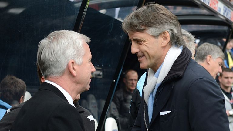 Alan Pardew: Newcastle boss was left to reflect on a 3-1 home defeat to Roberto Mancini's Manchester City