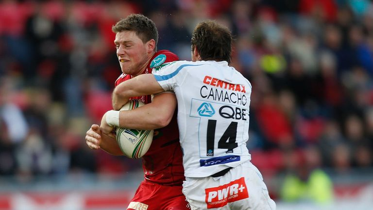 Rhys Priestland was carried off during Scarlets' defeat to Exeter Chiefs
