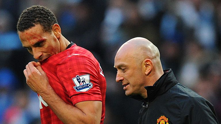 Ferdinand: was hit by a coin at the Etihad on Sunday
