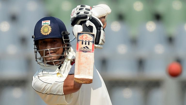 Tendulkar: one of only two India batsmen to pass 50 on day one of third Test