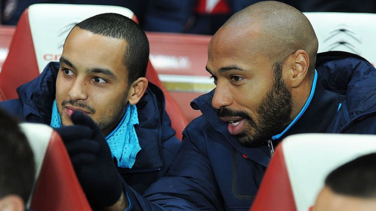 Theo Walcott: Has been taking tips from Gunners legend Thierry Henry
