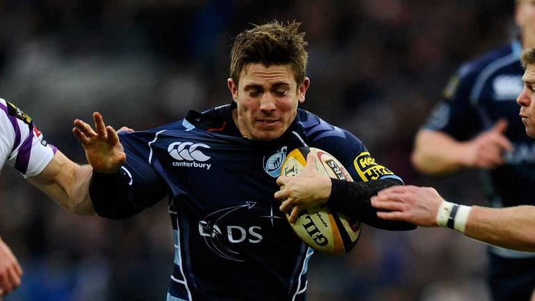 Richard Mustoe in action for the Cardiff Blues