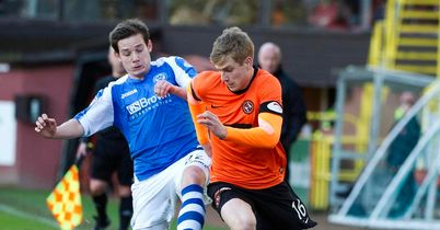 Peter Pawlett and Stuart Armstrong: Battling for the ball