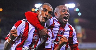Nick Blackman (l): Netted 14 goals for Sheffield United this term