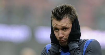 Antonio Cassano: Shows his frustration in Inter draw