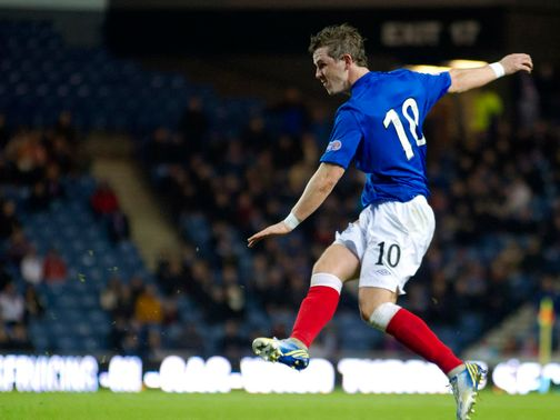 David Templeton scores the first goal for Rangers