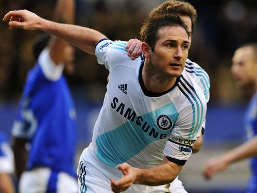 Frank Lampard: Scored twice against Everton