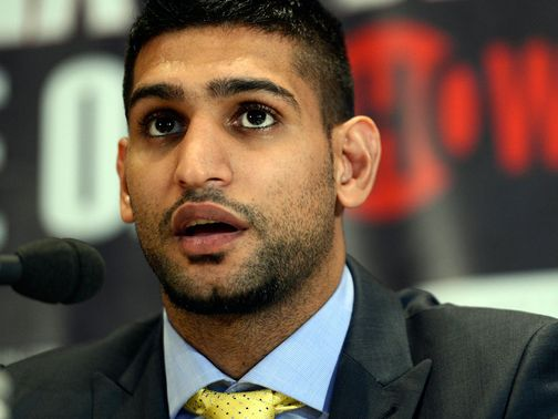 Amir Khan: Heavy favourite at the weekend