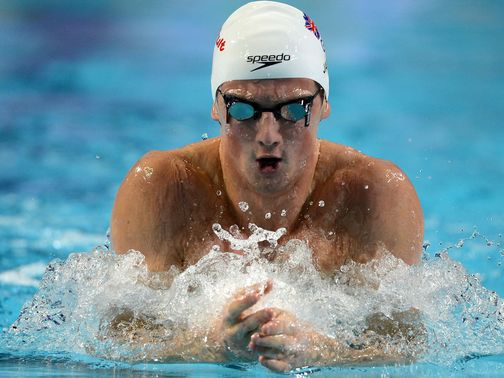 Michael Jamieson was one of just two swimming medallists