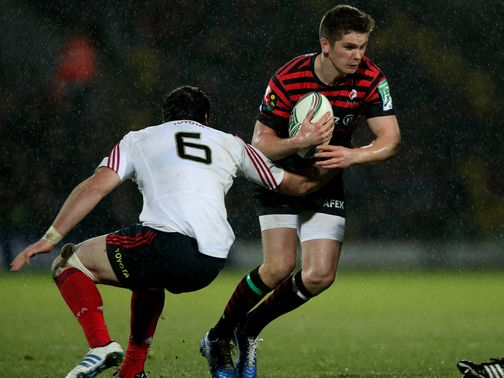 Owen Farrell: Contributed 14 points with the boot