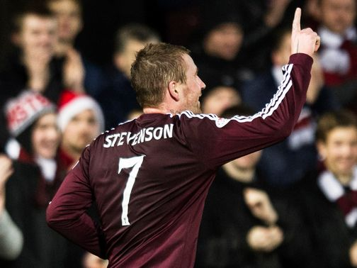 Two-goal Ryan Stevenson celebrates