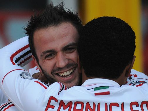 Giampaolo Pazzini celebrates his goal