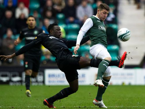 Victor Wanyama tackles Gary Deegan