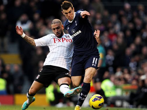 Bale: Suffered a hamstring injury at Fulham