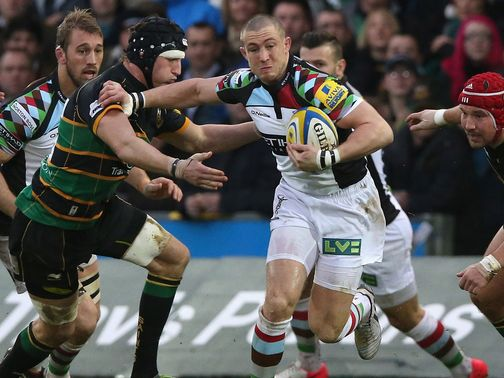 Mike Brown: Will make his 200th appearance for Harlequins