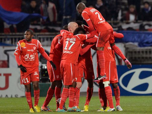 Nancy celebrate against Lyon