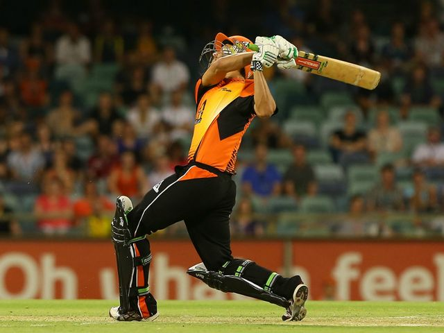 Nathan Coulter-Nile: impressive hitting from Perth Scorchers all-rounder