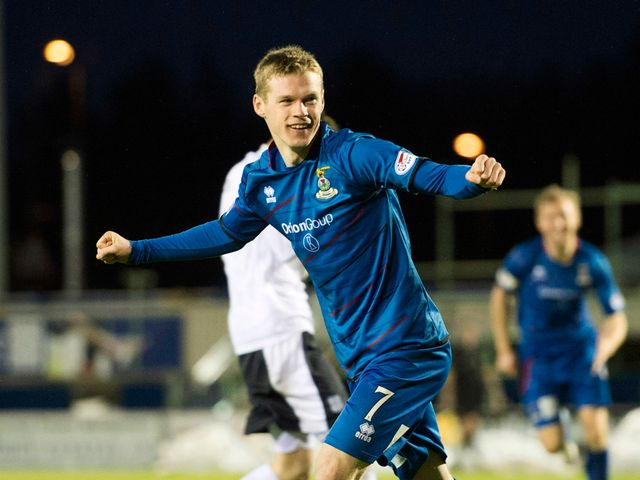 Inverness' Billy McKay celebrates