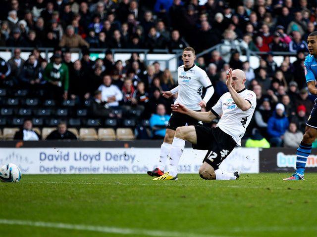 Conor Sammon: Netted Derby's third