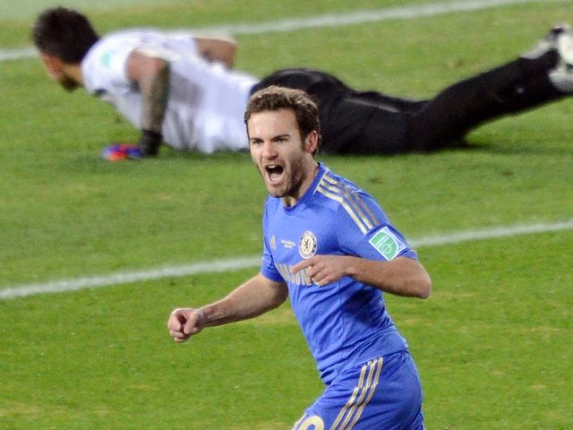 Juan Mata scores Chelsea's opening goal