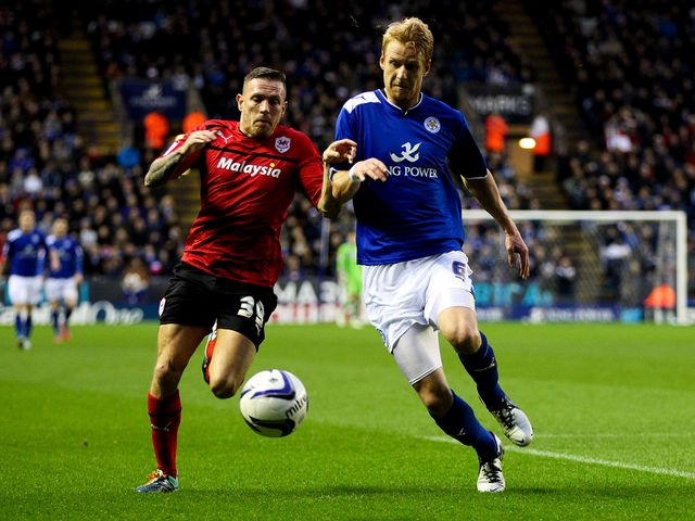 Craig Bellamy and Zak Whitbread battle for the ball